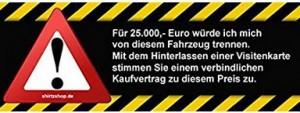 Autoverkauf-Aufkleber für Fahrerscheibe!