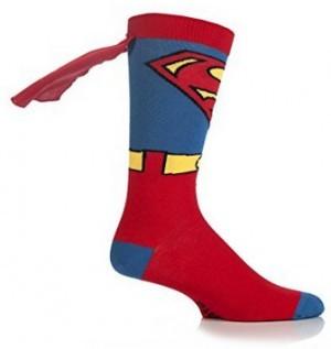 Superman-Socken mit Umhang!