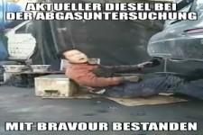 Abgasuntersuchung beim Diesel