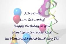 Alles Gute zum Geburtstag !