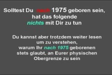 Bist Du vor 1975 geboren