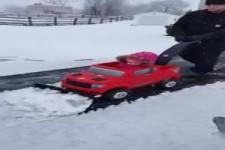 Schneeschaufeln mal anders