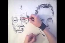 Zeichnen mit beiden Händen
