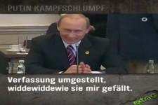 Putin, der Kampfschlumpf