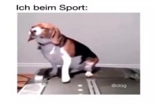 Ich beim Sport