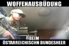 Waffenausbildung beim österreichischen Bundesheer