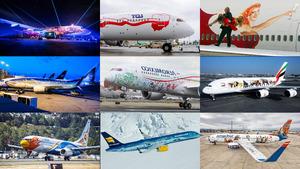 Verrückte Flugzeugbemalungen