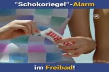 Schokoriegel-Alarm im Freibad