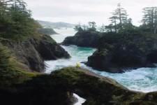 Der Sound von Crashing Waves entlang der Küste von Oregon