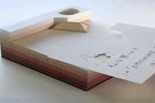 Lasergeschnittene Papier-Notizkarten