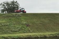 Rasenmähen am Deich
