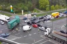 Verkehrschaos im Muenchner Norden