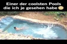 Einer der coolsten Pools die ich je gesehen habe