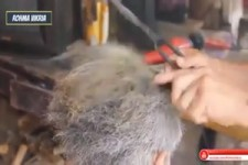 Modern barber salon
