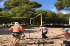Besonderes Beach-Volleyball