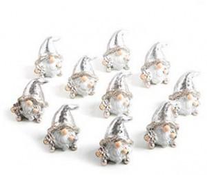 10 kleine silberne Weihnachtswichtel!