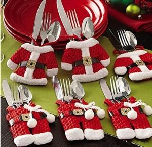 Stilvolle Besteckbeutel in Weihnachtsoptik!