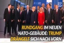 Trump drängelt - Szene vom Nato-Gipfel