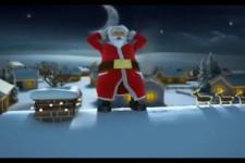 Santa spielt Jingle Bells mit seinen Glocken