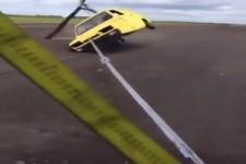 Versuch, ein Auto fliegen zu lassen