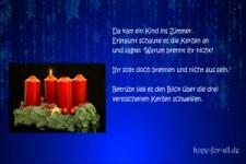 Die 4 Kerzen - Weihnachten