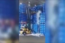 Stapler-Unfall bei Oettinger Bier