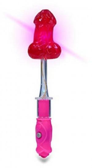 Blinkender Penis-Lolly mit Erdbeer-Geschmack!