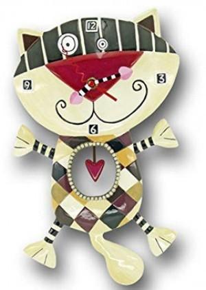 Katzen-Uhr mit Herz!