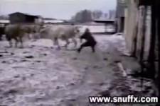 Landwirt auf Skiurlaub