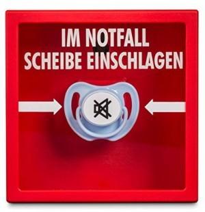 Schnuller-Alarm-Notfallkasten!