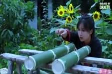 mit Bambus arbeiten