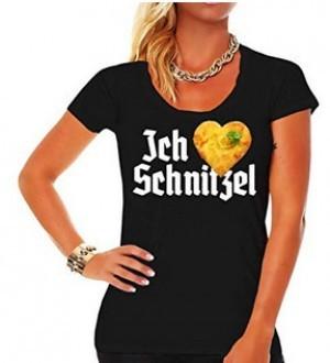 T-Shirt Ich-Liebe-Schnitzel!