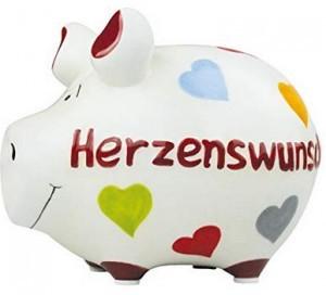 Sparschwein HERZENSWUNSCH!