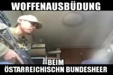 Waffenübung beim österreichischen Bundesheer
