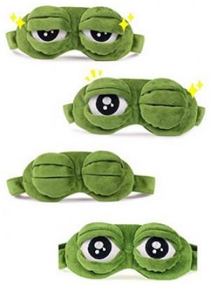 Lustige Frosch-Schlafmaske!