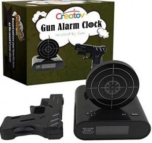 Digitaler Wecker mit Pistole & Zielscheibe!