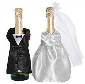 Flaschen-Kleidung Brautpaar!