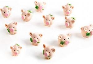 lustige kleine Mini-Glücksschweinchen!