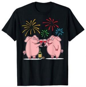 lustiges Glücksschwein-T-Shirt!