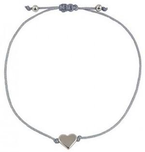 Hochwertiges Textil Armband mit Herzanhänger!