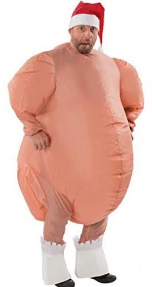 Aufblasbares Truthahn-Kostüm!